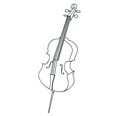 Cello clipart coloring page. Pages bears