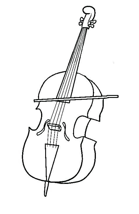 Pages string musical instruments. Cello clipart coloring page