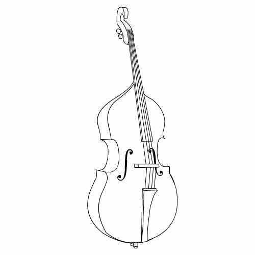 Cello clipart coloring page. Having trouble playing sharp