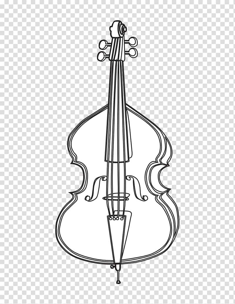 Violin drawing transparent . Cello clipart double bass