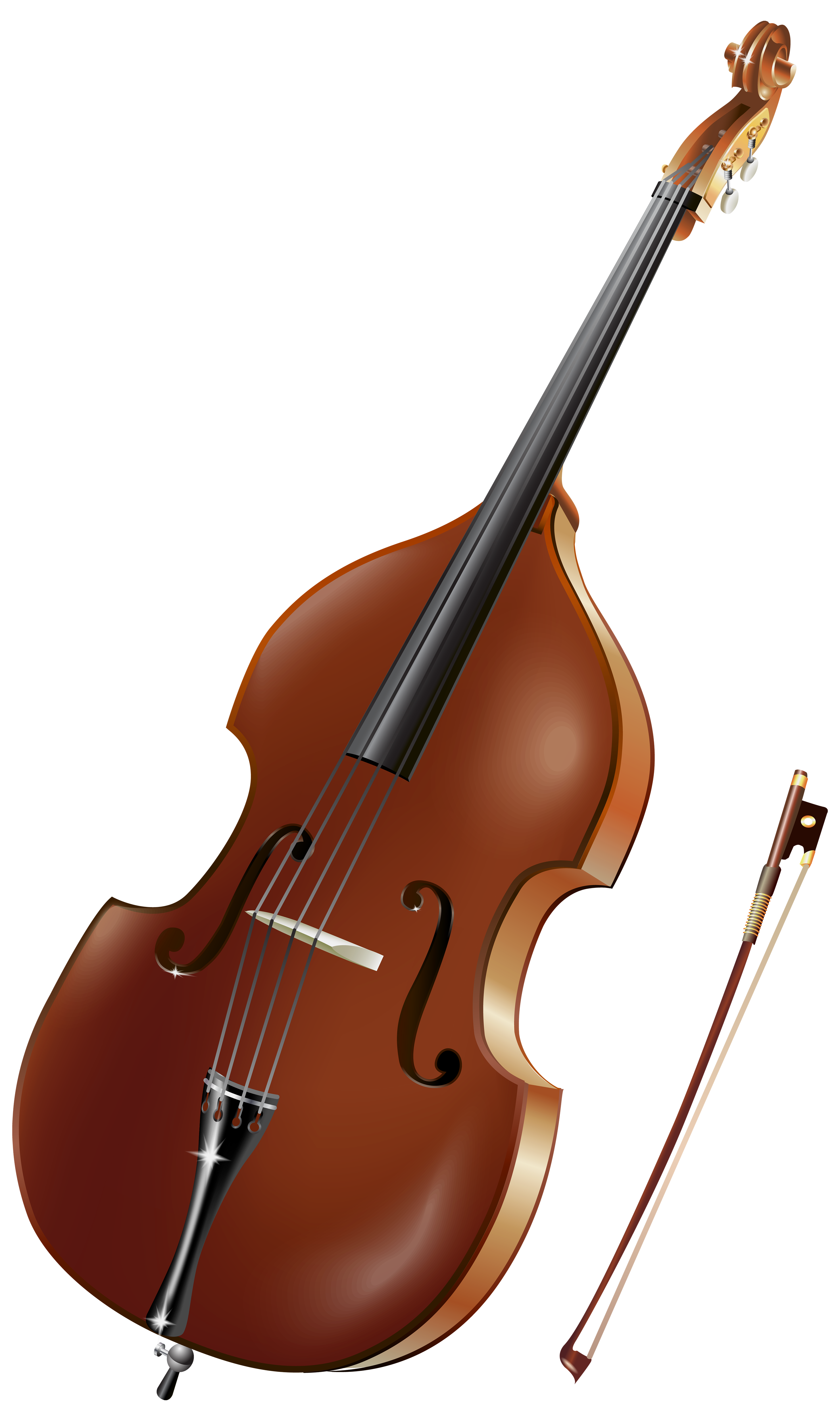 Cello clipart double bass. Violin musical instruments clip
