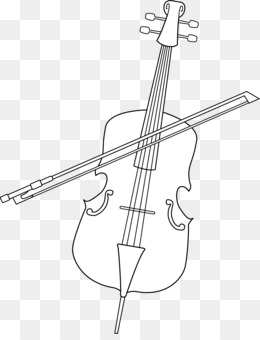 Cello clipart drawn. Violin drawing double bass