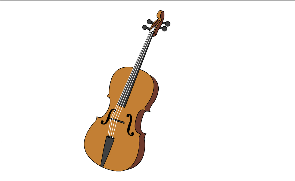 Cello clipart drawn. How to draw a