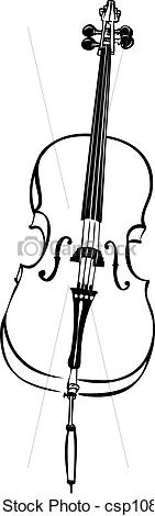 collection of line. Cello clipart drawn