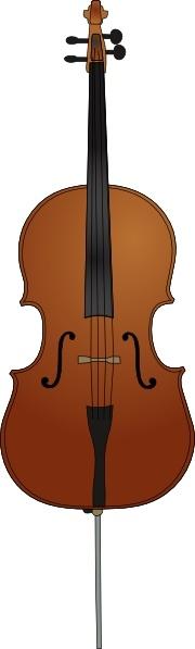 Clip art free vector. Cello clipart drawn