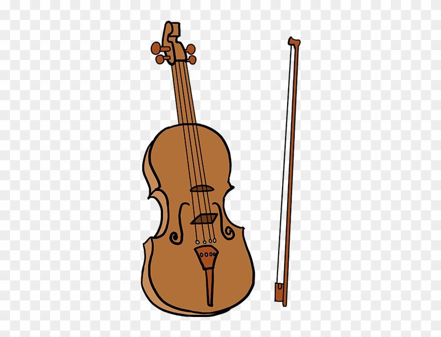 How to draw violin. Cello clipart drawn