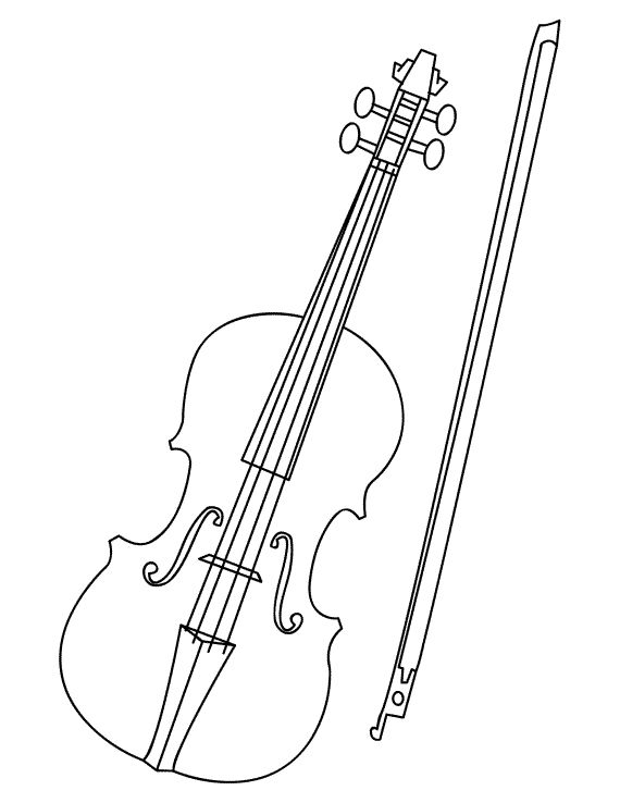 drawing simple for. Cello clipart drawn