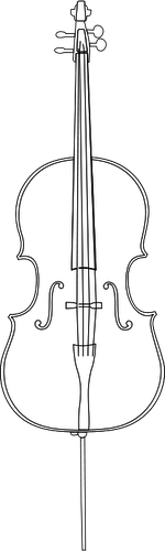 Cello clipart drawn. Drawing outline at paintingvalley