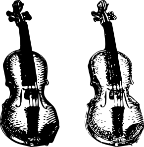 Violin clip art at. Cello clipart gambar