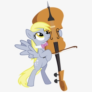 Cello clipart mlp. Shrug derpy png download