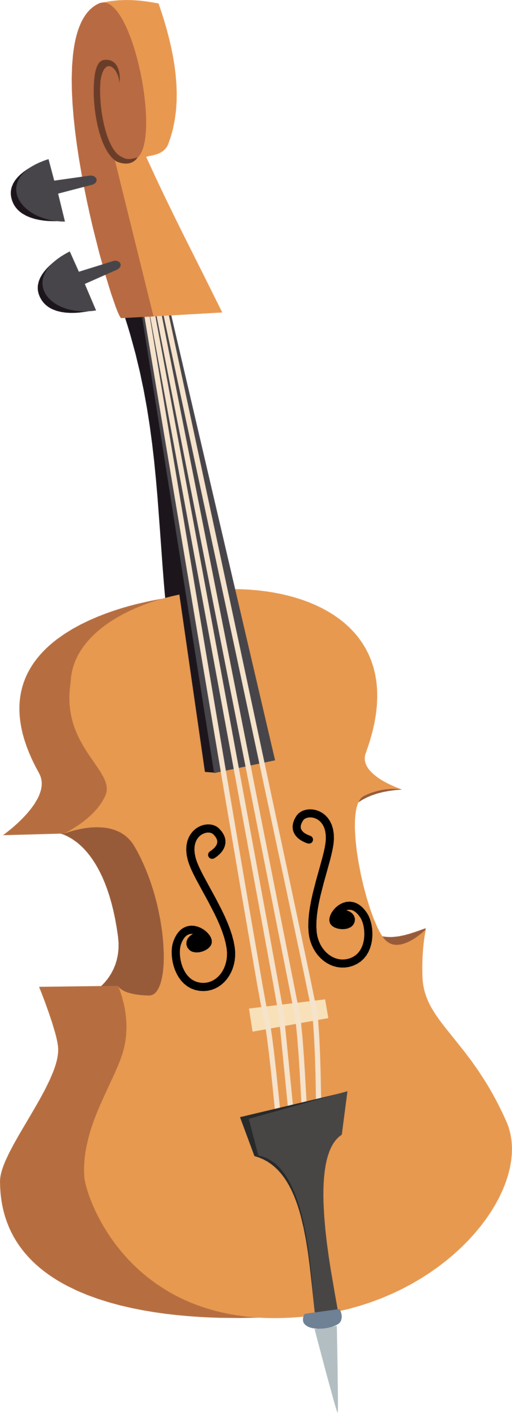 S double bass by. Cello clipart octavia