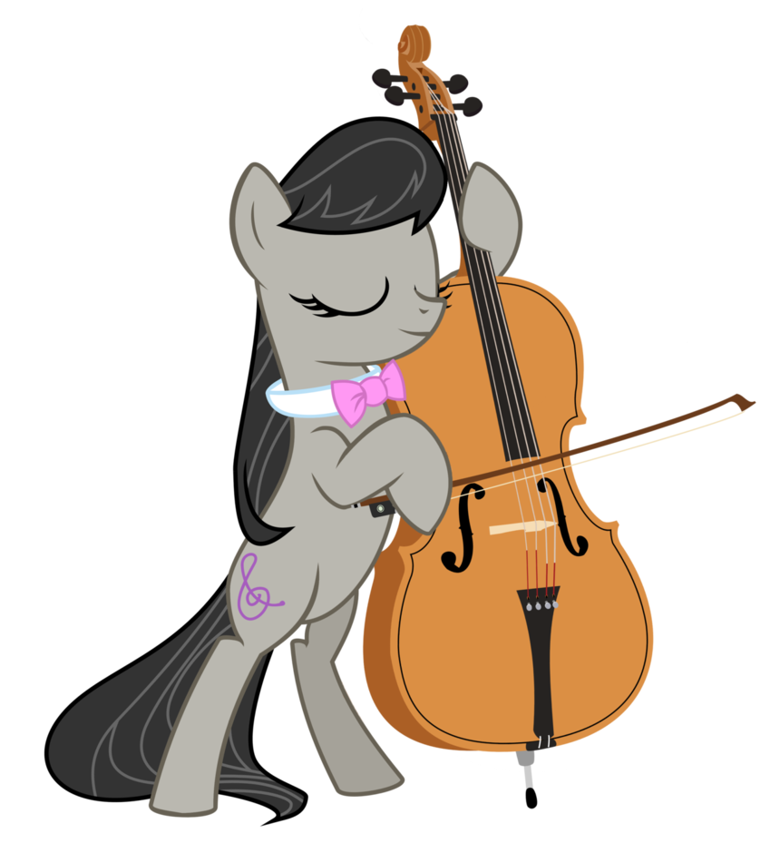 With a realistic by. Cello clipart octavia