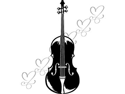 Cello clipart orchestra. Amazon com yetta quiller