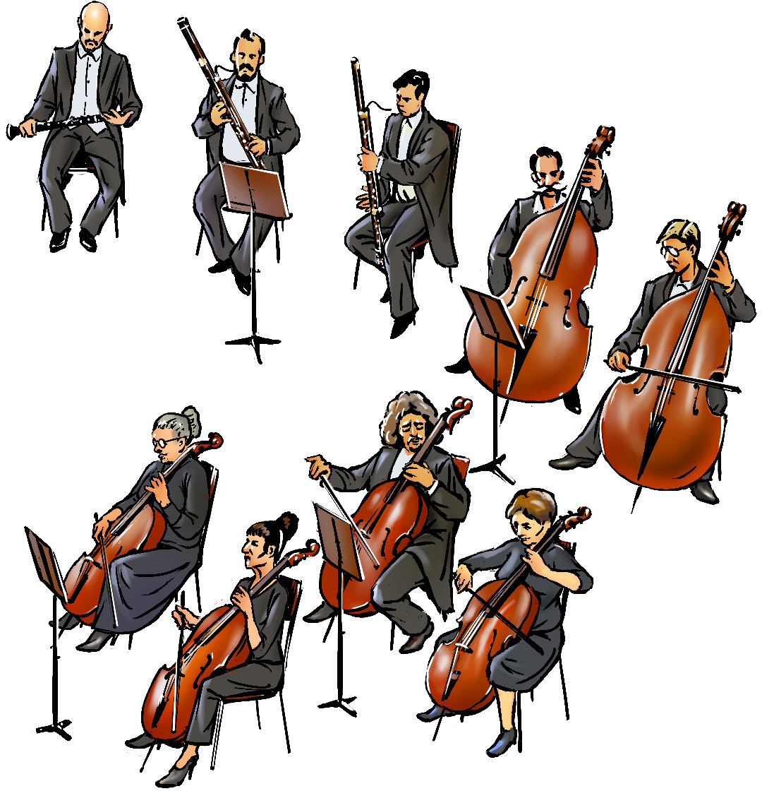 Music hall and the. Cello clipart orchestra