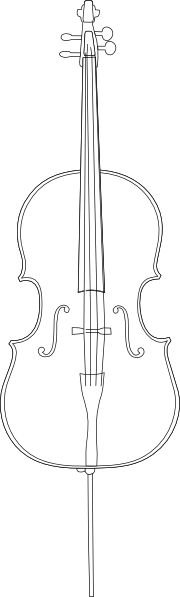 Clip art at clker. Cello clipart outline