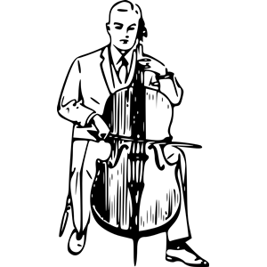 Cello clipart outline. Drawing at getdrawings com