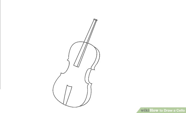 How to draw a. Cello clipart outline