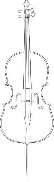 Cello clipart outline. Clip art free vector