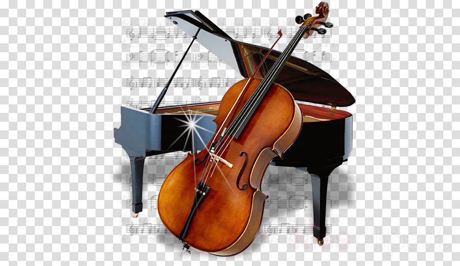 Transparent png image free. Cello clipart piano