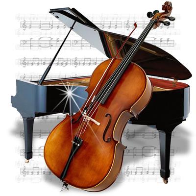Cello And Piano Clipart
