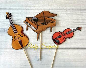 Topper etsy music cupcake. Cello clipart piano