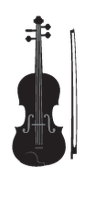 Music instruments the arts. Cello clipart silhouette