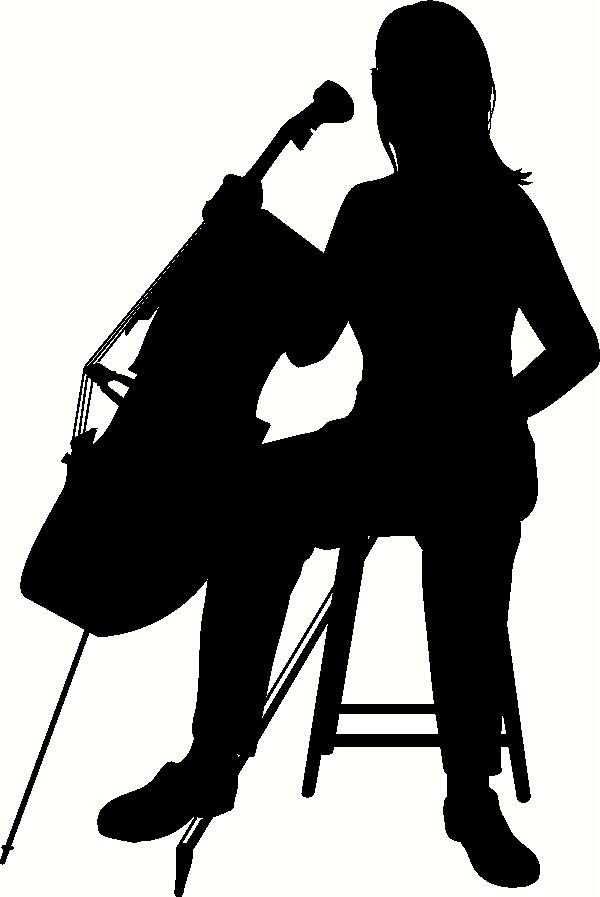 Cello clipart silhouette. At getdrawings com free