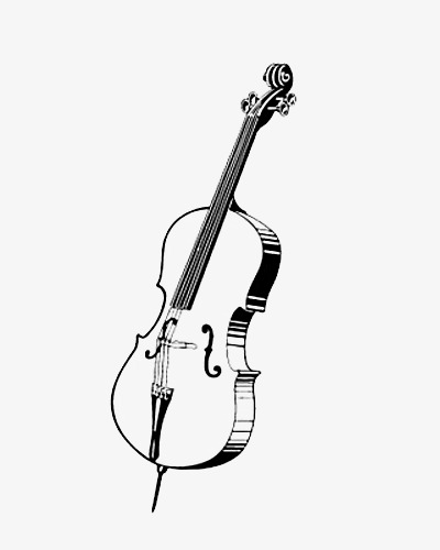 Music musical instruments black. Cello clipart silhouette