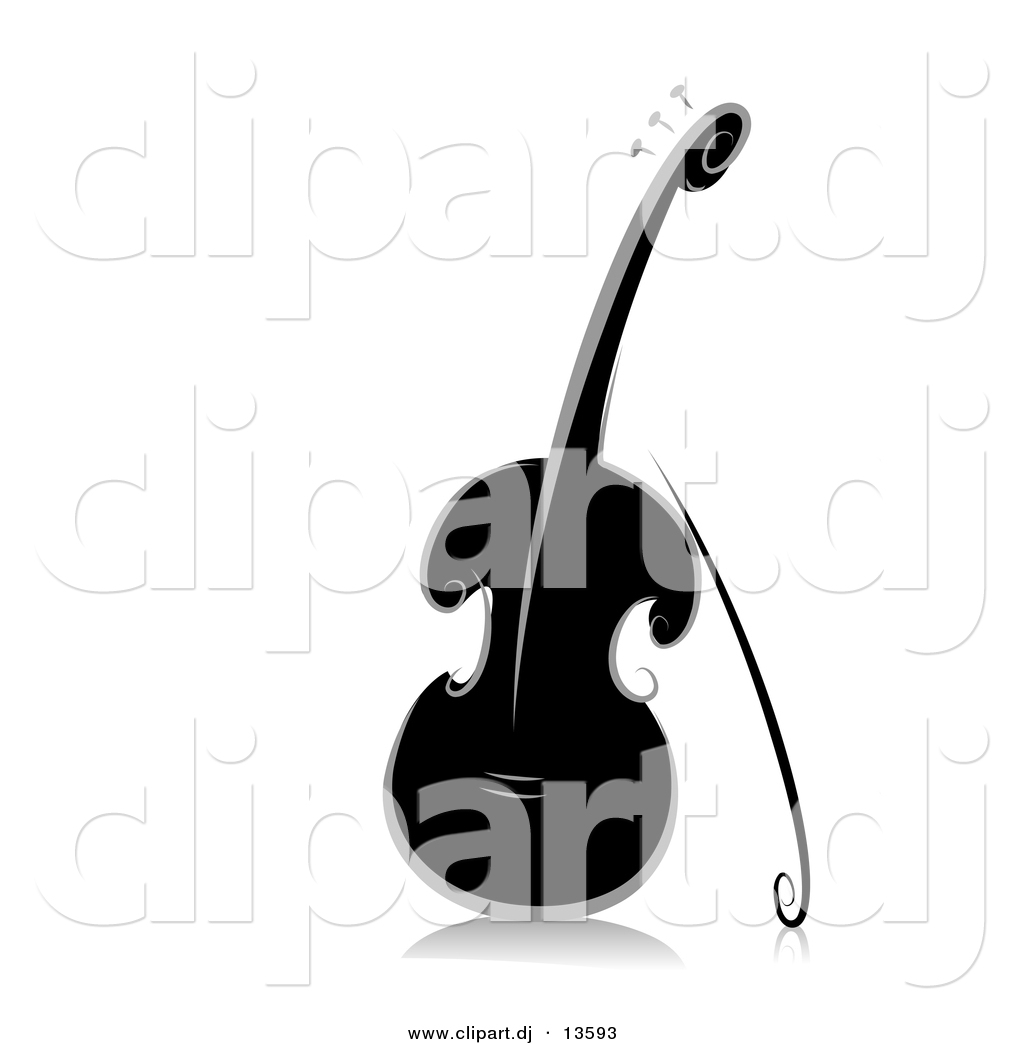 Violin clip art at. Cello clipart silhouette