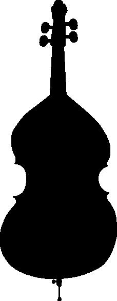 Cello Silhouette Clip Art at Clker
