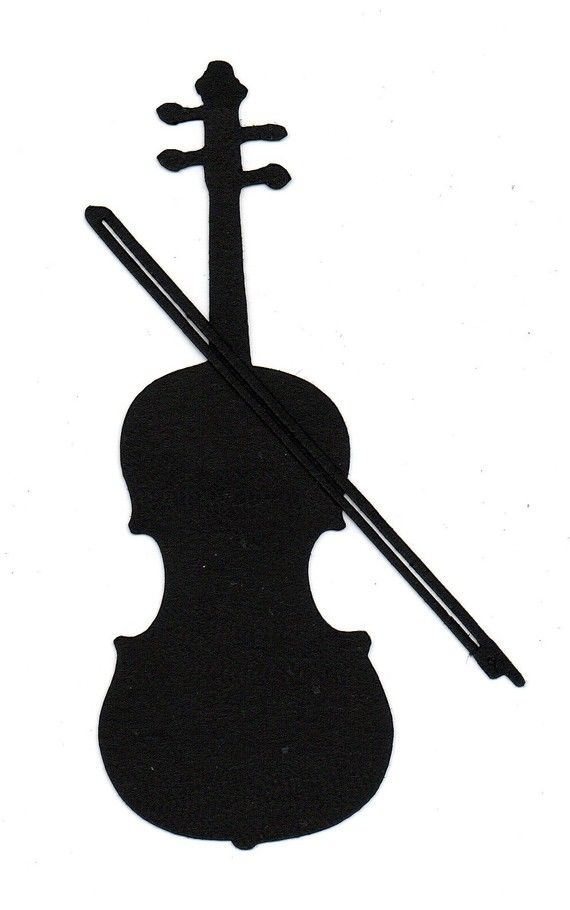 Violin or die cut. Cello clipart silhouette