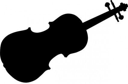 Violin clip art more. Cello clipart silhouette