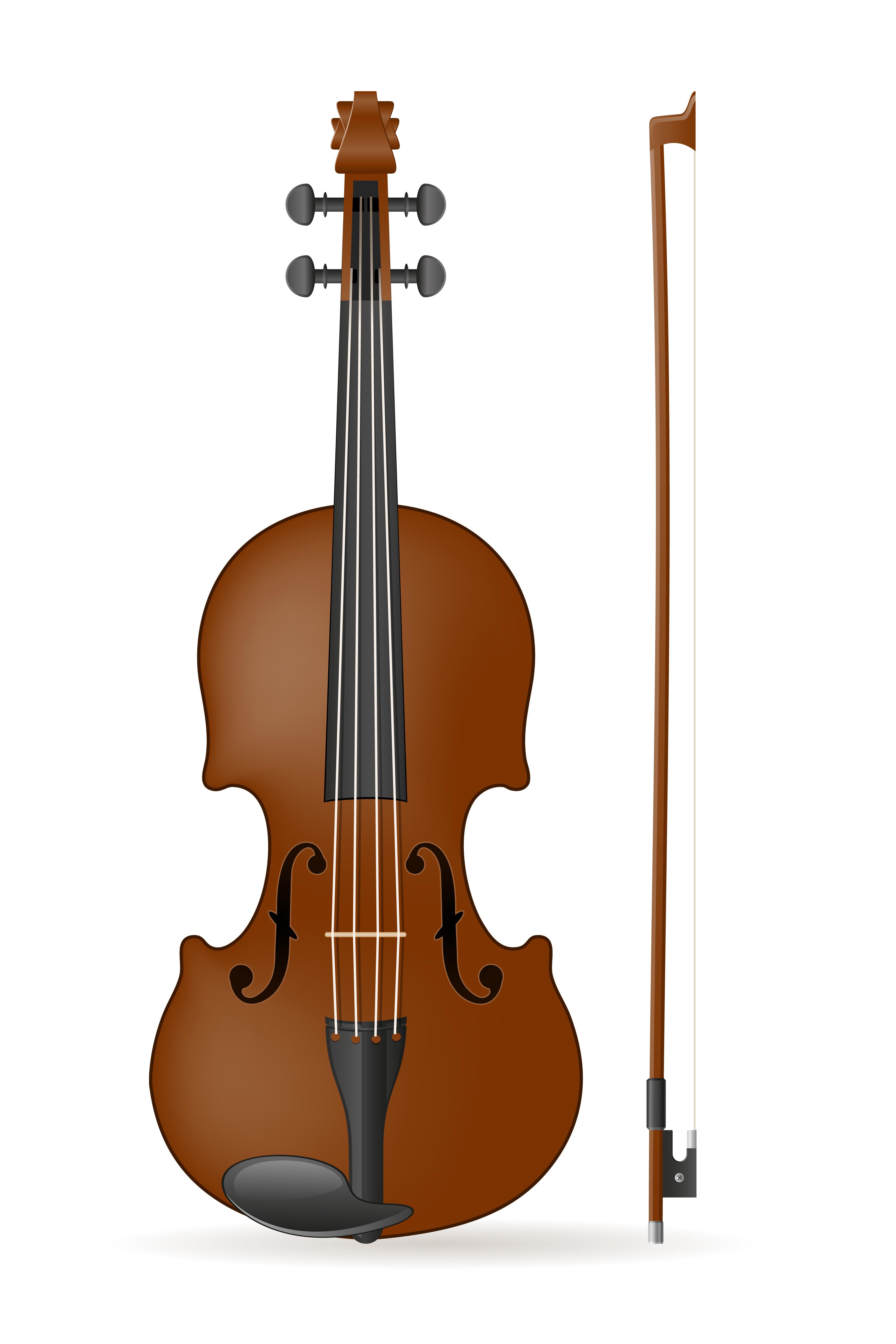 Cello clipart small violin. Stock vector illustration download