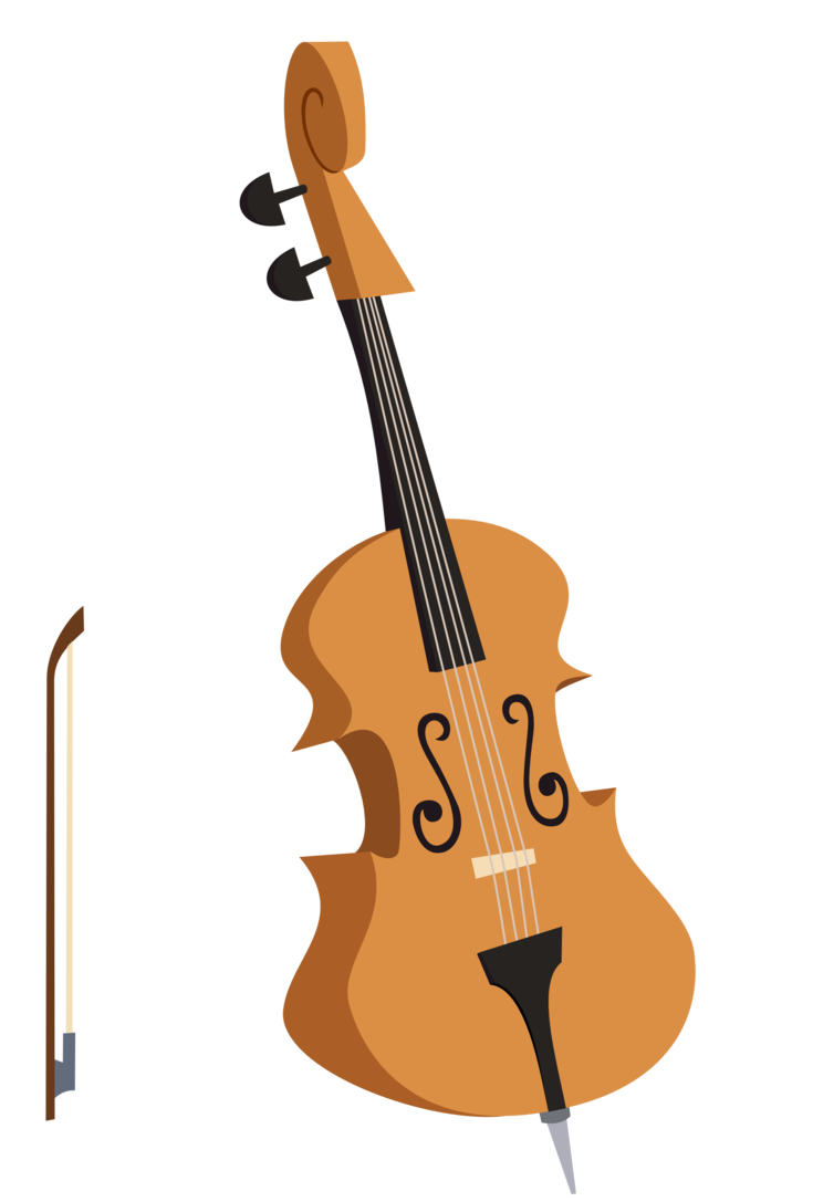 Octavia s or double. Cello clipart string bass
