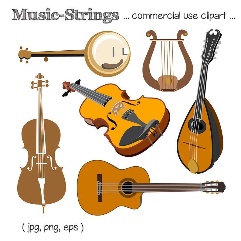 Cello clipart string family. Music instrument guitar violin