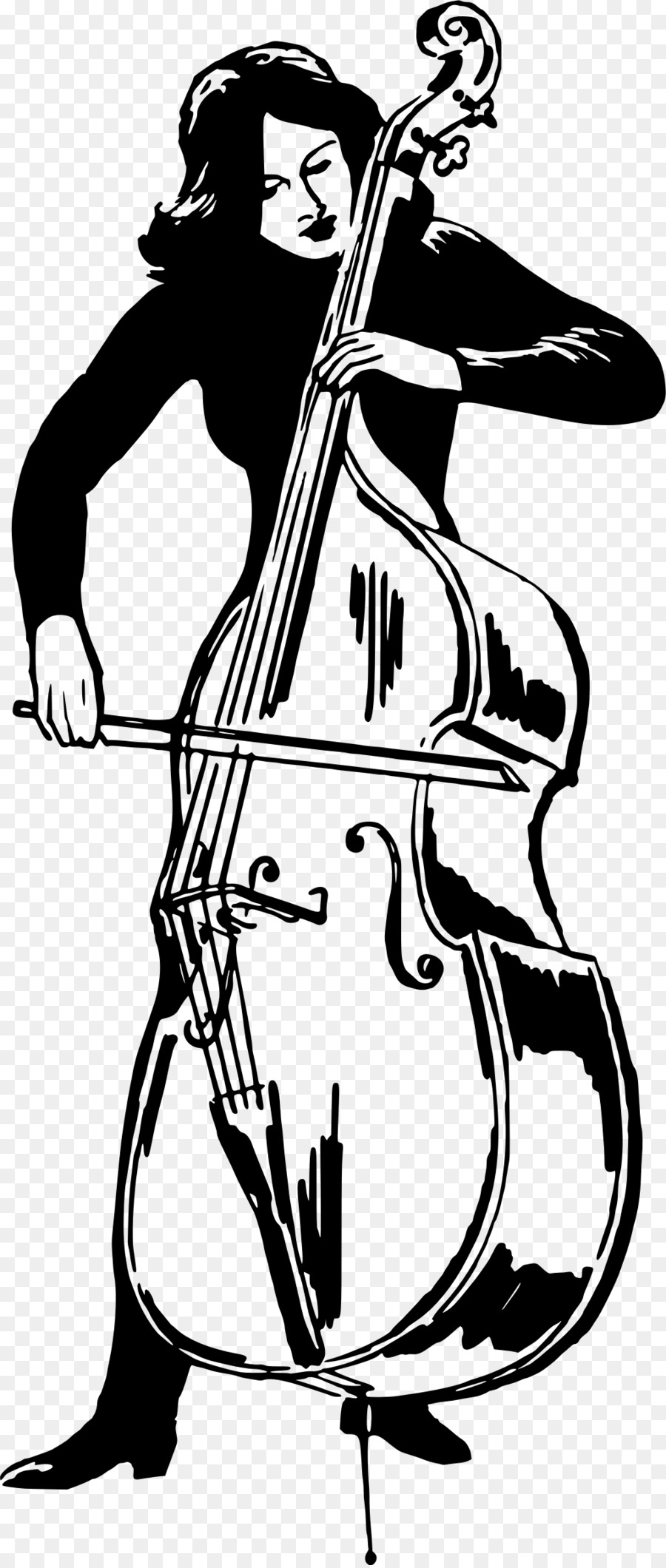 Cello clipart tool. Double bass violin clip