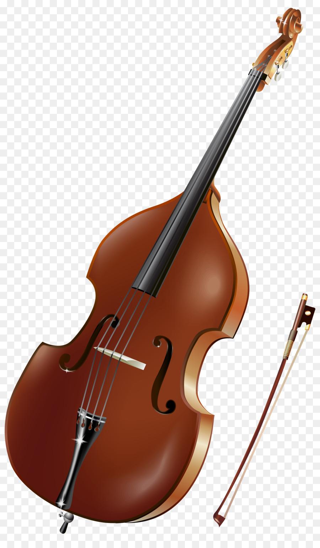 Cello clipart tool. Double bass violin musical