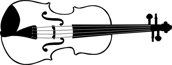 Violin bass free vector. Cello clipart viola
