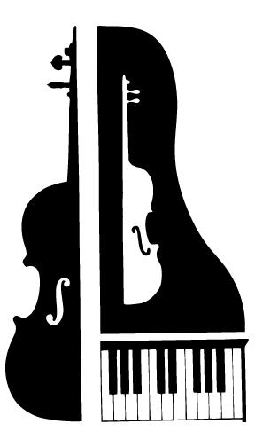 With piano cartoon kid. Cello clipart violin