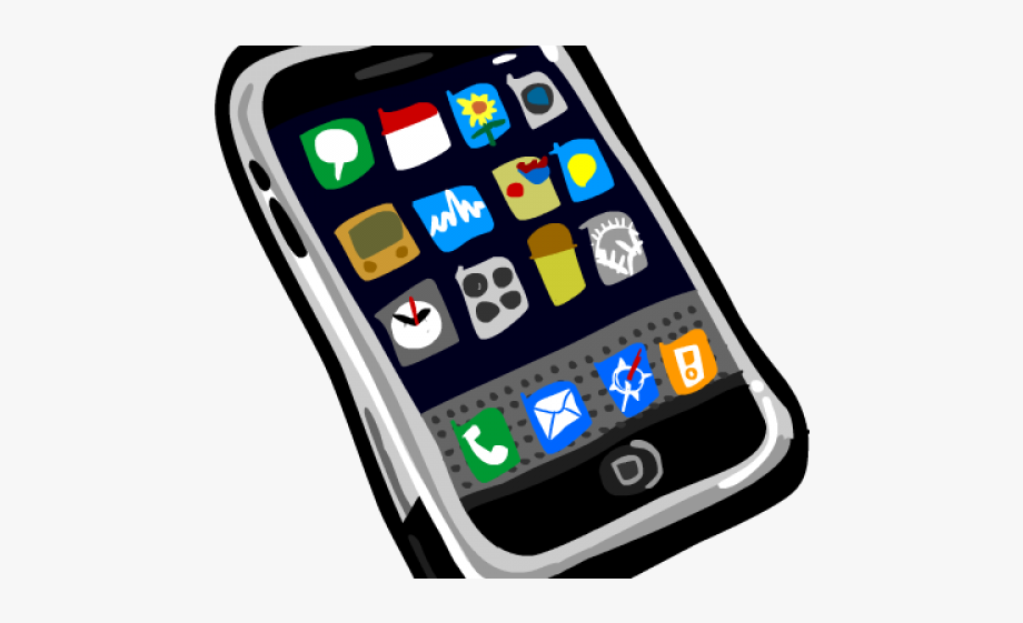 Cell phone transparent clip. Cellphone clipart