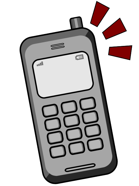 Animated mobile clip art. Student clipart cell phone