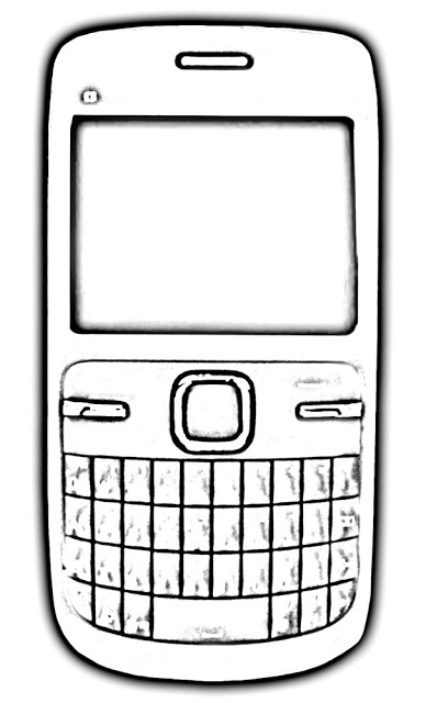 Cellphone clipart black and white. Station
