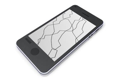 cellphone clipart broken