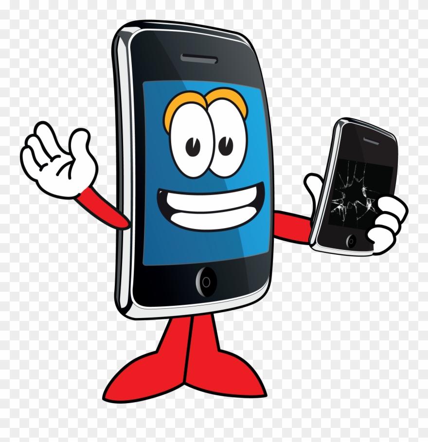 Cellphone clipart cartoon. Software repair shop