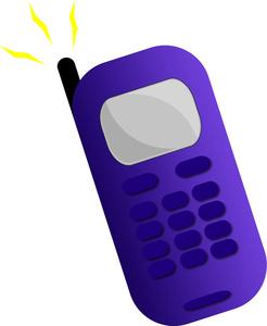 Cellphone clipart cartoon. Cellular telephone image a