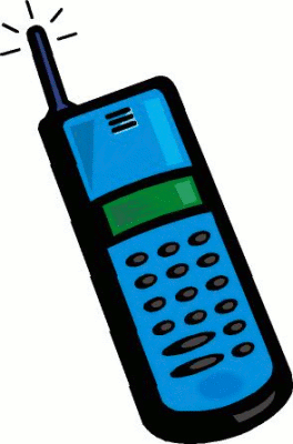 Cell phone moving . Cellphone clipart cartoon