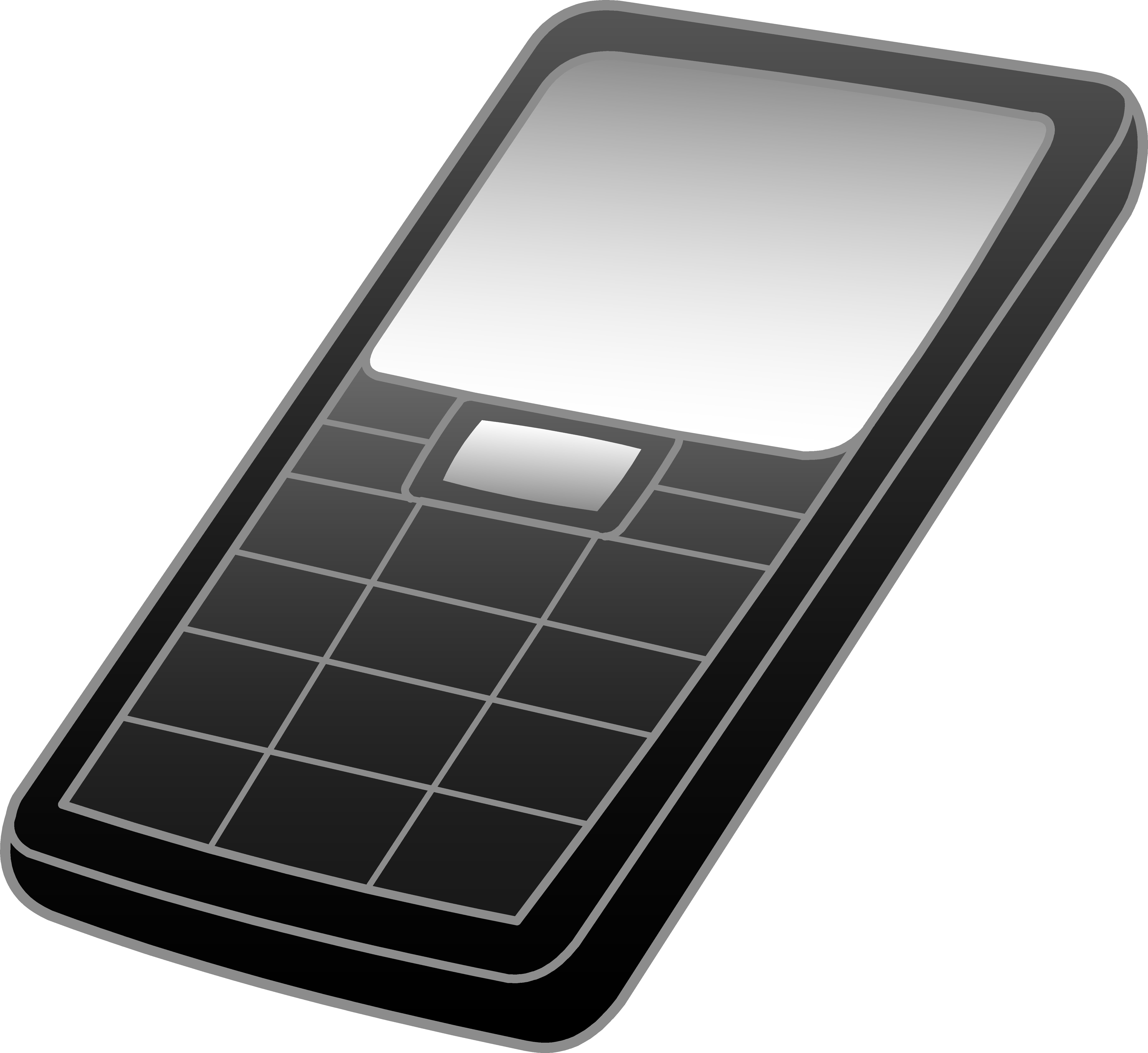 Black and grey cell. Cellphone clipart clip art