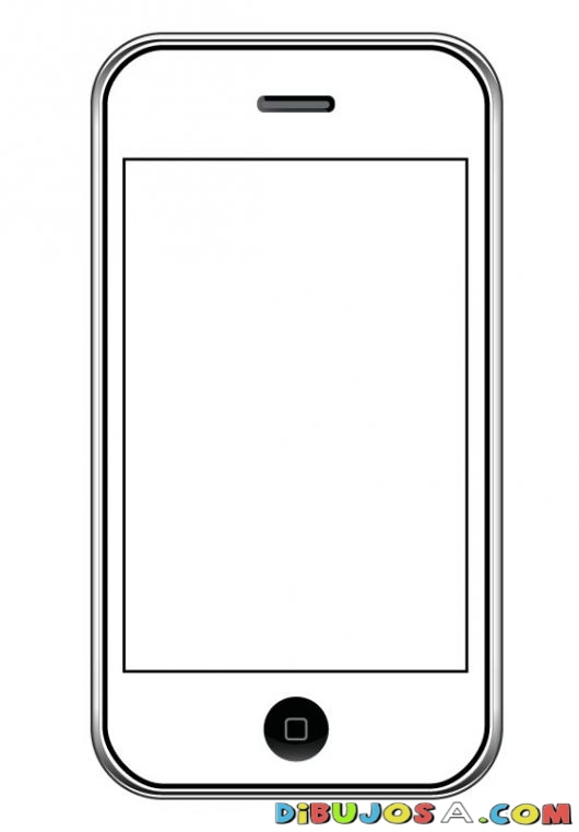 Cellphone clipart coloring page, Cellphone coloring page ...