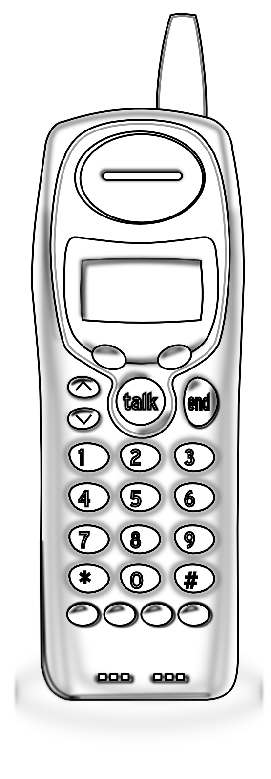 Retro clipart cell phone.  collection of cordless