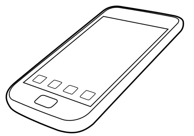 collection of drawing. Clipart phone digital